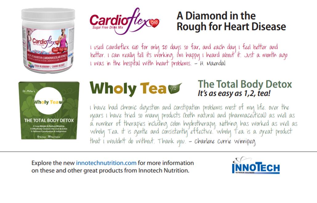 cardioflex and wholy tea ad